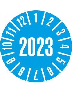 Keuringssticker geheel jaartal '2023', Ø35, 60/boekje