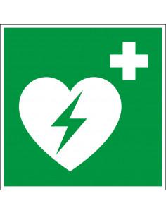 Sticker 'AED' ISO 7010, 100 x 100 mm, D-E017