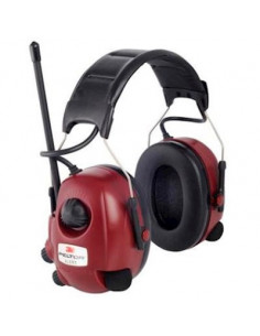3M Peltor Alert FM-radio gehoorkap met hoofdband rood