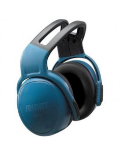 MSA left/RIGHT HIGH gehoorkap met hoofdband blauw