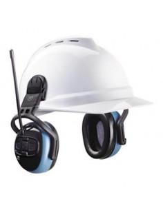 MSA left/RIGHT FM Pro gehoorkap met helmbevestiging blauw