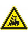 Waarschuwingsbord 'Voorzichtig heftruckverkeer', 200 mm, ISO 7010, W014