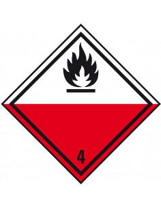 ADR bord klasse 4.2 'Zelfontbrandende stoffen' kunststof, 200 x 200 mm