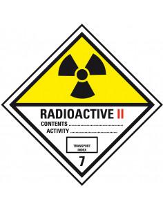 ADR bord klasse 7 'Radioactief II' kunststof, 200 x 200 mm