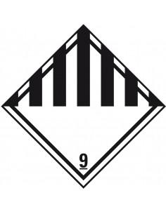 ADR bord klasse 9 'Diverse gevaarlijke stoffen' kunststof, 200 x 200 mm