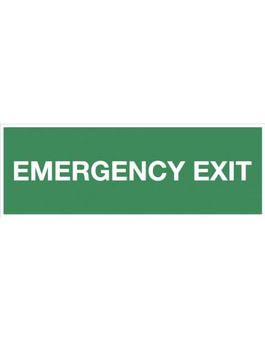 Bord met tekst 'Emergency exit', 300 x 100 mm, kunststof