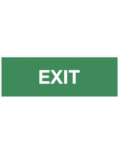 Bord 'Exit', 300 x 100 mm, kunststof