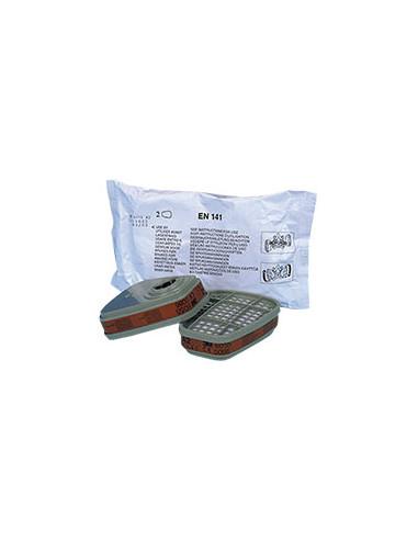 3M ademhalingsbeschermingfilter A2, EN 141, voor Halfgelaatsmasker 6200/7500, Volgelaatsmasker 6800, 2/VE
