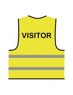 Veiligheidshesje geel 'Visitor'