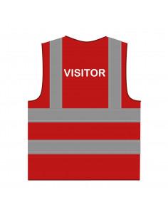 Veiligheidshesje 'Visitor' rood