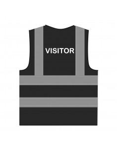 Veiligheidshesje 'Visitor' RWS zwart