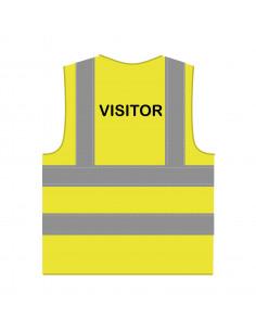 Veiligheidshesje 'Visitor' RWS geel