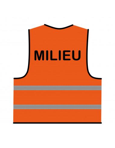 Veiligheidshesje oranje 'Milieu'