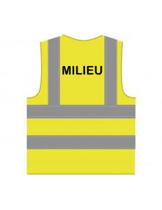 Veiligheidshesje 'Milieu' RWS geel