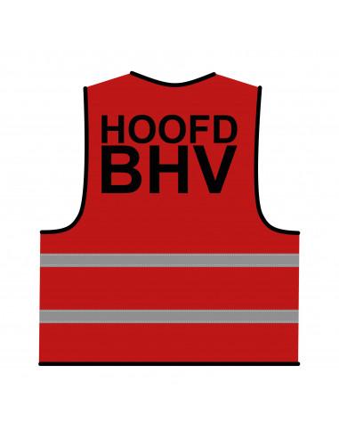 BHV hesje rood 'Hoofd BHV'