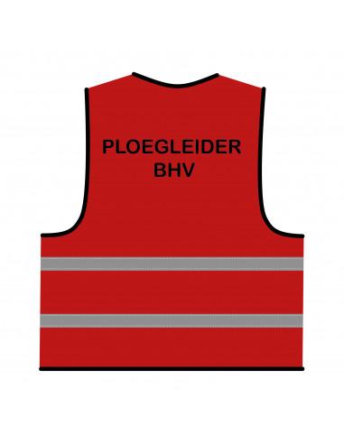 BHV hesje rood 'Ploegleider BHV'