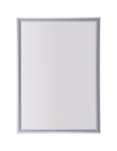 Wissellijst A2, brandwerend met klapbaar profiel, zilver, aluminium
