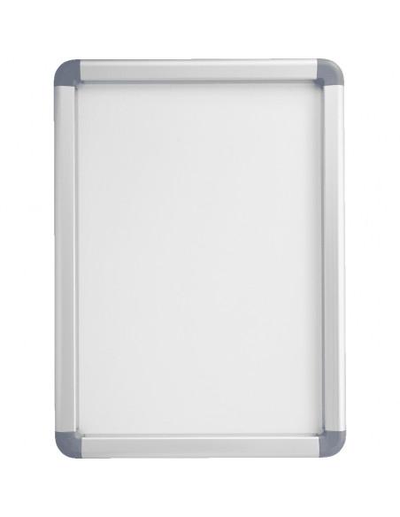 MAXIMUS wissellijst, klapbaar profiel, ronde hoeken, zilver, aluminium