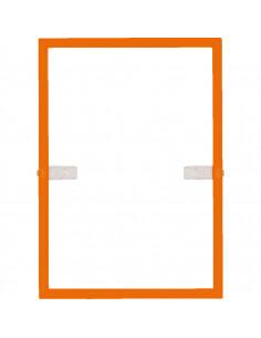 Kunststof lijst, voor gelamineerde A4 formaten, met bevestigingsmateriaal