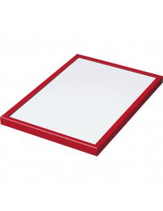 Wissellijst, spitse hoeken, aluminium, maat 420 x 594 mm (A2)
