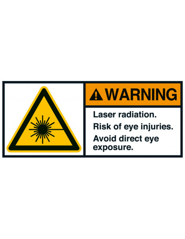 Sticker 'Warning Laser radiation' ANSI