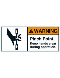 Sticker 'Warning Pinch point' ANSI