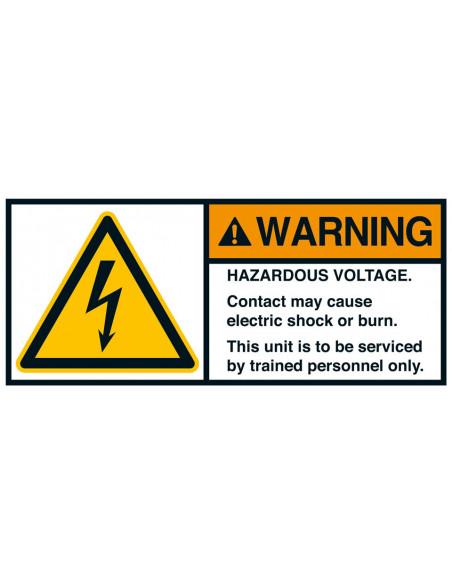Sticker 'Warning Hazardous voltage' ANSI