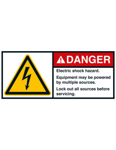 Sticker 'Danger Electric shock hazard' ANSI