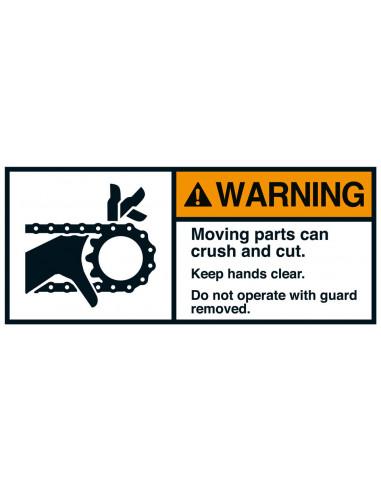 Sticker 'Warning Moving parts' ANSI