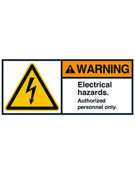 Sticker 'Warning Electrical hazards' ANSI