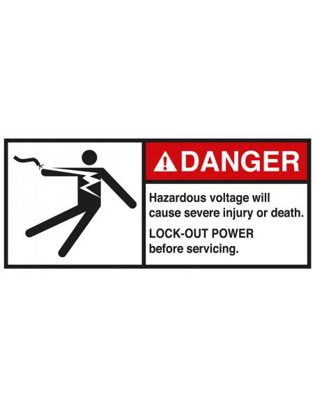 Sticker 'Danger Hazardous voltage Lock-out' ANSI