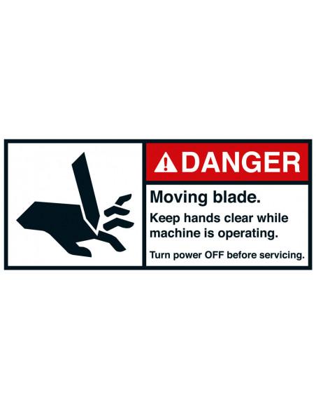 Sticker 'Danger Moving blade' ANSI