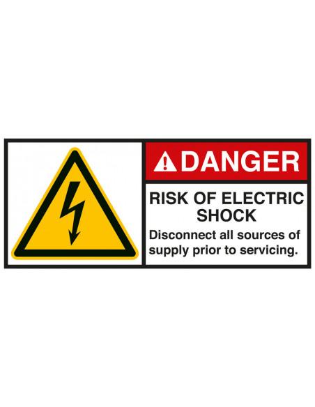 Sticker 'Danger Risk of electric shock' ANSI
