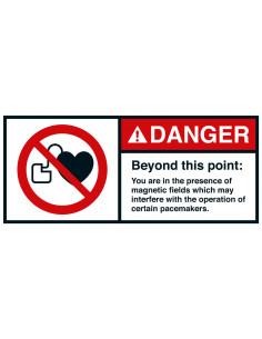Sticker 'Danger Beyond this point' ANSI
