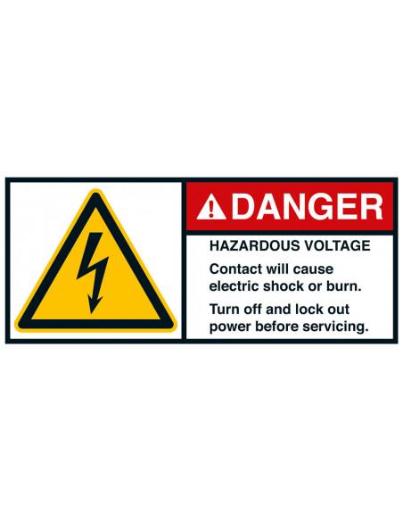 Sticker 'Danger Hazardous voltage' ANSI