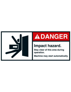 Sticker 'Danger Impact hazard' ANSI