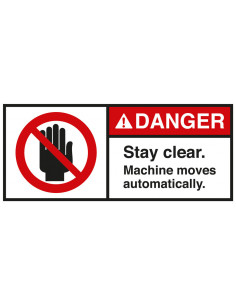 Sticker 'Danger Stay clear' ANSI