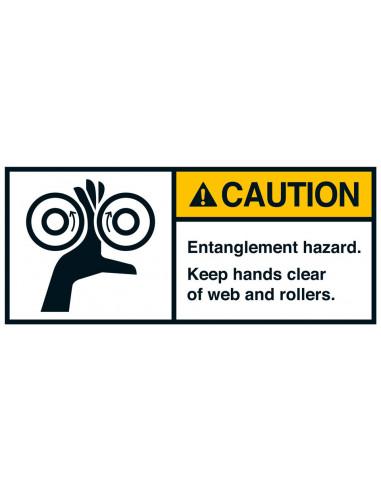 Sticker 'Caution Entanglement hazard' ANSI