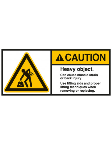 Sticker 'Caution Heavy object' ANSI