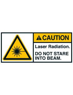 Sticker 'Caution Laser radiation' ANSI