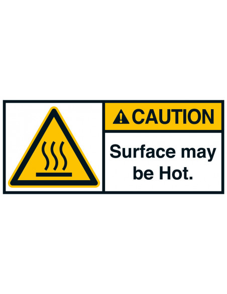Sticker 'Caution Surface may be hot' ANSI