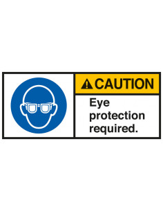 Sticker 'Caution Eye protection required' ANSI
