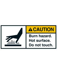 Sticker 'Caution Burn hazard' ANSI