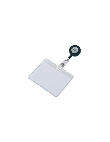 DURABLE Naambord met Ausweishülle,-houder en oprollmechanismus, 90 x 60 mm