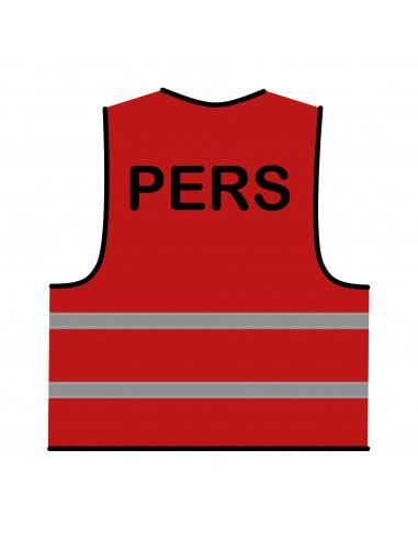 Veiligheidshesje 'Pers' rood