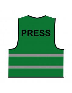 Veiligheidshesje 'Press' groen