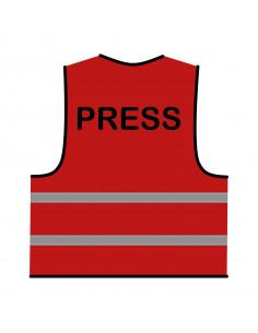 Veiligheidshesje 'Press' rood