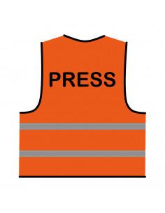 Veiligheidshesje 'Press' oranje