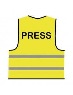 Veiligheidshesje 'Press' geel