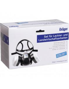Halfgelaatsmasker set Dräger, incl. A2P3 filters